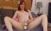 Redhead Babe Rubs Her Vibrator to Her Wet Pussy