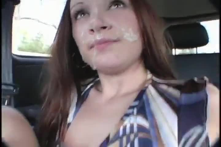 Public Cum On Face