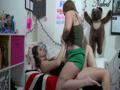 Lesbian Play and Strap on for the Camera