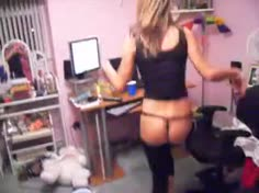 Teen Blonde Strip and Shake