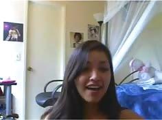 Super Cute Girl's Strip dance on Webcam