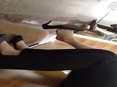 Candid Vietnamese Shoeplay Dangling Feet