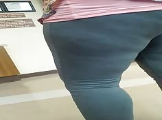 black coworker at pharmacy fat ass panty lines