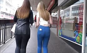 Sexy Ass Blonde in Tight Jeans