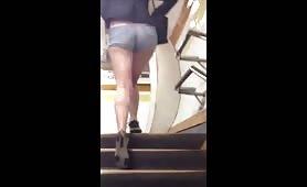Sexy Teen Hottie Bare Legs and Ass