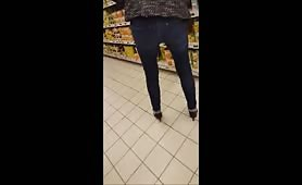 granny very sexy tight jeans and heels