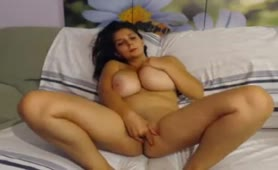 Huge Boobs Webcam Model Fingering Herself