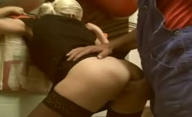 Amateur German Blonde Blowjob and Anal at Work