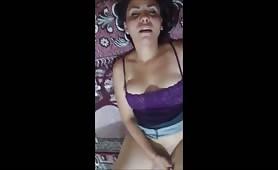 Amateur latina - facial cumshot
