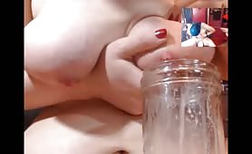 Shemale Milks Her Tits