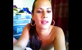 Webcam Solo from a Titty Tranny