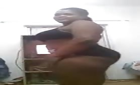 Sudanese girl with big boobs get undress