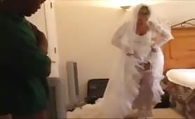 Black Guy Breeding White Wife on Her Wedding Day