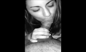 Eager Brunette Sucking