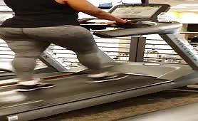 Big black treadmill booty