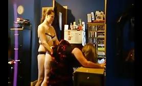Amateur Lesbian Strap on Fucking