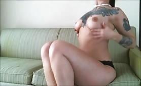 Sexy Brunette Masturbation