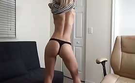 hot girl in glasses stripping
