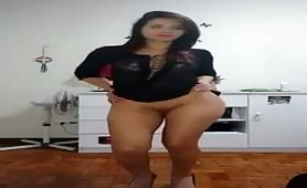 Sexy girl dance striptease