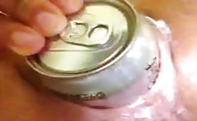 Coke Can in Pussy and Gape