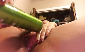 Hairy Teen Latina Bottle Masturbation