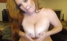 Chubby Redhead MILF Masturbation