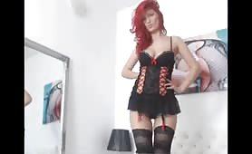 Redhead Teasing on Cam