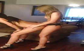 Teen Girls Use Strap-on