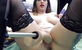Cam Girl with Fucking Machine