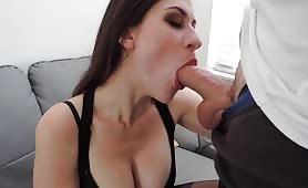 Big Tit Babe Blowjob and Facial