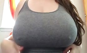 Girls with Perfect Tits Plays with Her Nipples