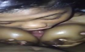 Sexy Ebony Chick Tittyfuck Cumshot