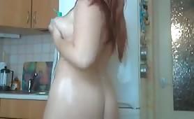 Oiled Chubby Redhead