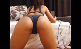 Sexy Juicy Ass Bent Over Panty Tease
