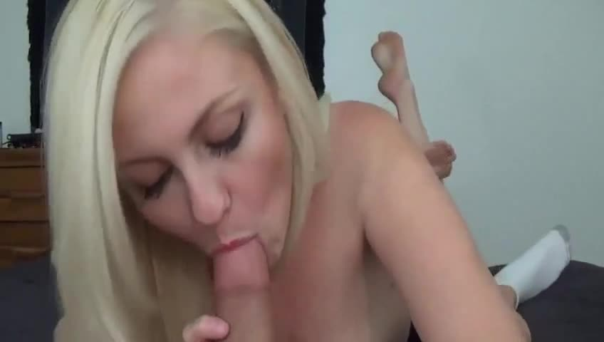 College Blonde Blowjob Pov