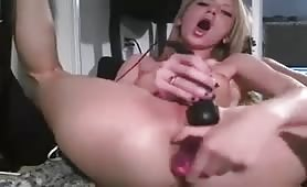 Real Hot Horny Girl Using Two Toys
