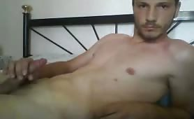 Greek Athletic Str8 Boy with Big Cock Cums on Webcam