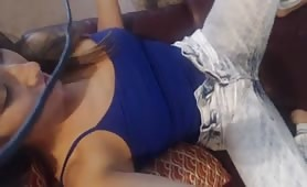 Sexy babe webcam show