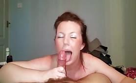 British GF Swallowing Cum