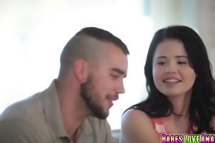 Yhivi blowjobs her boyfriends dick deep in her throat